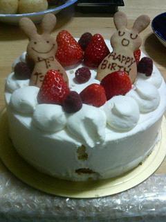 お誕生日のケーキは